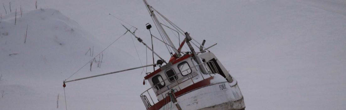 boat snow